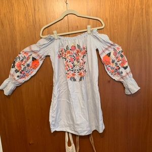 Embroidered free people dress